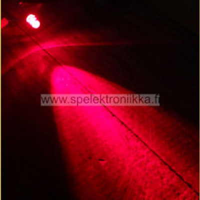 Superkirkas LED 5mm Punainen typ. 8000  mcd