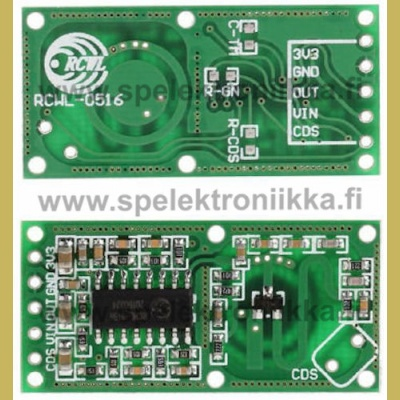 RCWL-0516 microwave radar motion sensor for arduino and other applications
