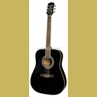 RD-12L-BK Richwood lefthanded acoustic guitar dreadnought model die cast machine