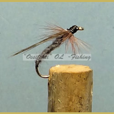 Slow Caddis harmaa #12