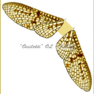 Spinner Wings Mayfly SMW 003 Yellow M 10kpl