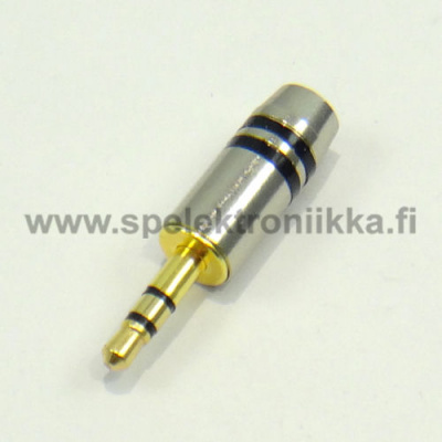 Stereo connector 3.5mm metallic  male for thick cable