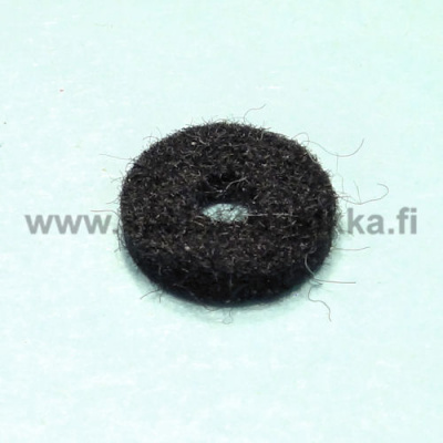 Strap button felt washer black n. 3 x 12 mm
