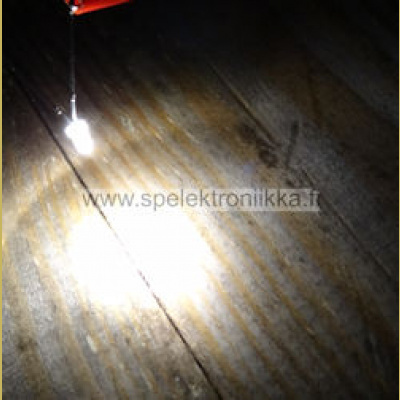 LED 3mm Superkirkas Warm White 8000 mcd
