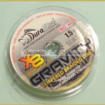 Temperoitu kuitusiima DuraKing Gravity 8 x Braid 0.11mm 150m 11.4kg Fluo Yellow