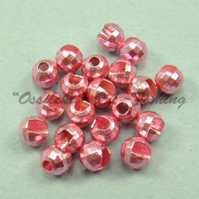 Tungsten Disco Beads Light Pink metallic 3.5 mm 20kpl TFH®