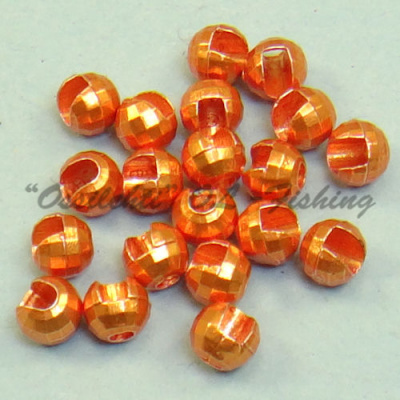 Tungsten Disco Beads Orange metallic 3.5 mm 20kpl TFH®