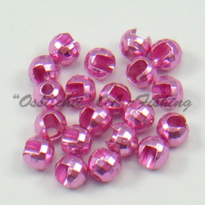 Tungsten Slotted Disco Beads Pink Lucent metallic 2.5 mm 20kpl TFH®