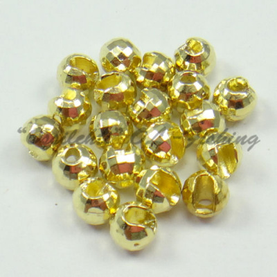 Tungsten Disco Diamond Beads Gold 5.5 mm 20kpl TFH®