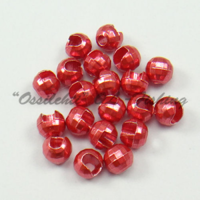 Tungsten Slotted Disco Beads Candy Red Lucent metallic 2.5 mm 20kpl TFH®