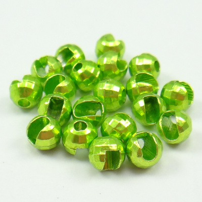 Tungsten Disco Beads Chartreuse metallic 3.5 mm 20kpl TFH®