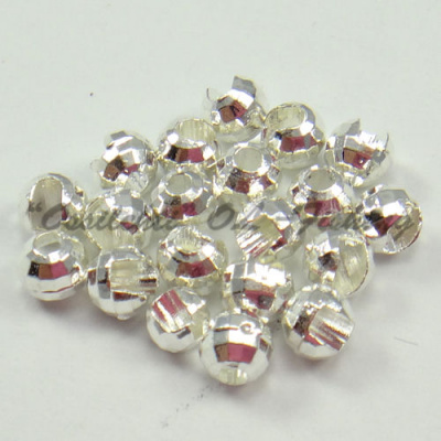 Tungsten Disco Diamond Beads Silver 4.5 mm 20kpl TFH®