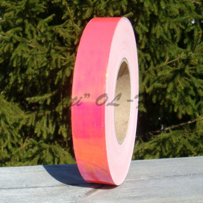 """Color-changing"" metallic bright red tape"