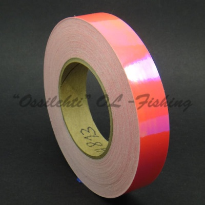 Color-changing chameleon tape for example to R / Y / G coloured ice lures bright red FL