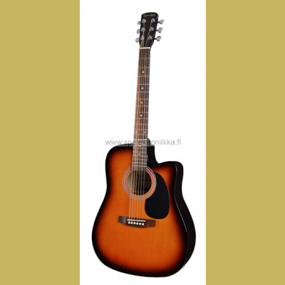 Western kitara Grimshaw dreadnought sunburst active EQ