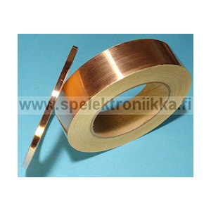 Copper tape for RF shielding, extremely useful for guitars 1m, leveys 5mm