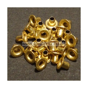Vintage eyelet brass 1.8 x 3.5 mm approx. 50pcs