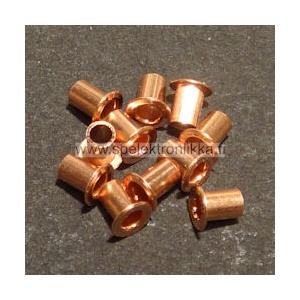 Läpivienti new age eyelet copper pituus 3 mm n. 50 kpl