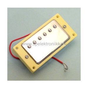 Humbucker crome bridge 52 ivory mounting ring HB52IVO red wire