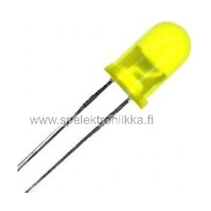 Keltainen 5 mm LED diffusoitu low current
