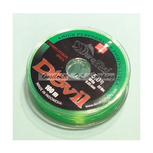 Monofiilisiima DuraKing 0.25mm 100m 6.4kg Fluo Green