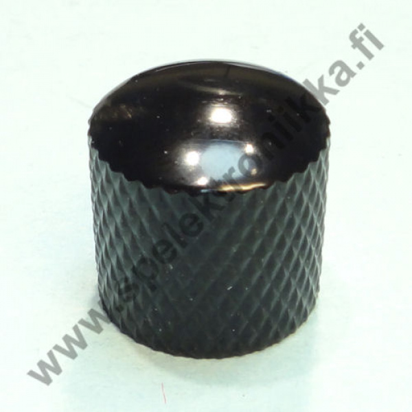 Metallinuppi 16,5 x 18 push to fit musta dome 6 mm akselille