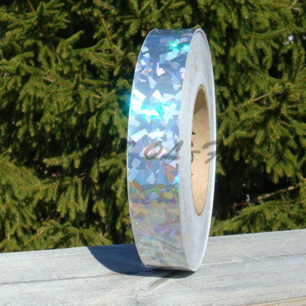 Lure tape Broken glass hologram with silver base