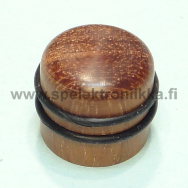 "Wooden knobs for guitar pots 6mm axle ""push to fit"""