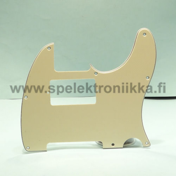 TC -tyylinen plektrasuoja humbucker Cream 3PLY Cream/Black/Cream