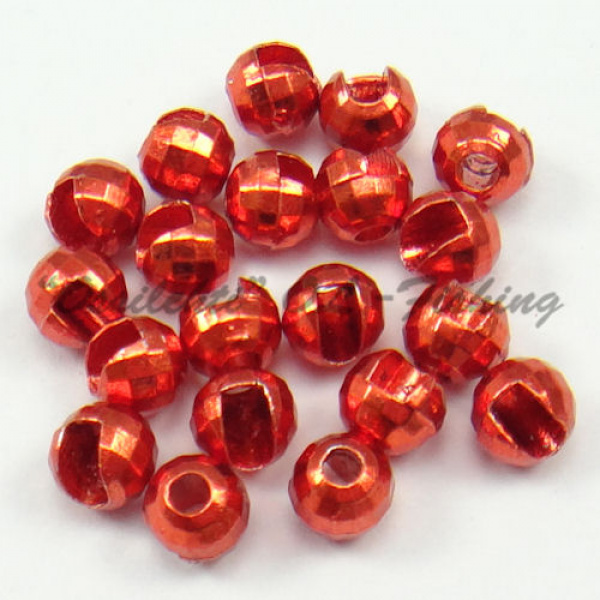 Tungsten Slotted Disco Beads Red Lucent metallic 2.5 mm 20kpl TFH®