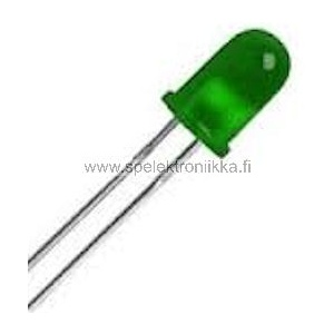 Vihreä 3 mm LED diffusoitu low current