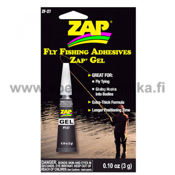 Zap A Gap Superlim gel 3g for fly fishers