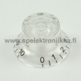 Bell Top Hat nuppi setti 4kpl Water Clear Transparent