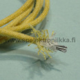 Cloth covered push-back wire stranded Yellow 18 AWG 1m