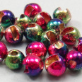 Slotted Tungsten Wolfram ball Rainbow 4.0 mm 20pcs TFH®
