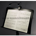 Musikstativlampa MSL-504 som Mighty Bright ja Stagg Duet Boston LED USB nuottivalo 4 LED