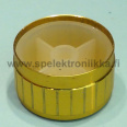 "Knob for 6mm potentiometer 17 x 30 mm aluminium surface GOLD ""push to fit"""