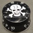 Speed nuppi CUSTOM SKULL PIRATE White / Black
