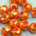 Tungsten Disco Beads Orange metallic 4.0 mm 20kpl TFH®
