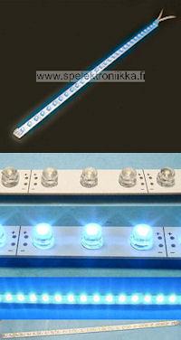 LED lista sininen, pituus n. 38cm 30 sinistä LED:iä